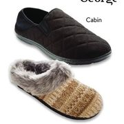 George Men's Or Ladies' Slippers Pair - $15.00