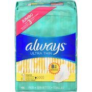 Always Pads, Liners Or Tampax Tampons - $7.98