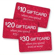 Chapters Give a Gift, Get a Gift - Get a $10-$30 Giftcard w/Qualifying In-Store Purchase, Ends Sunday